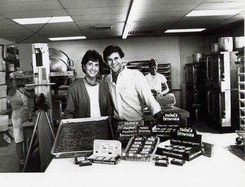 Jeff and Ra El at Rachel's Brownies